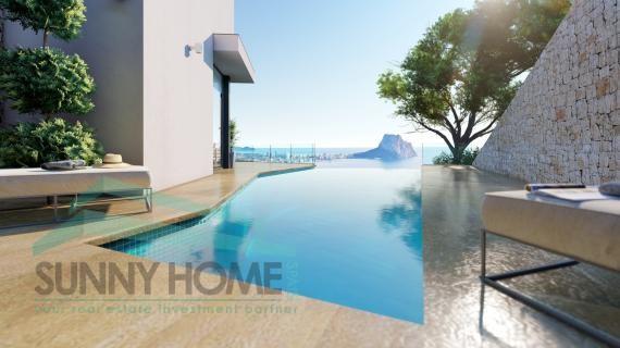 Luxe villa in Calpe , zeezicht